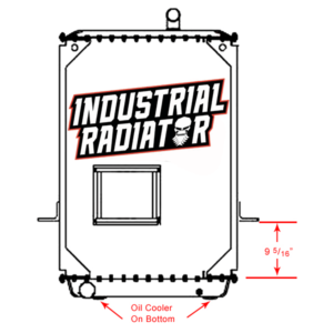 Mack Radiator - 39 x 27 1/4 x 2 1/16 (With Crankbox)