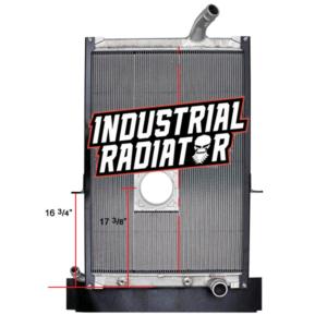 Mack Radiator - 38 3/4 x 27 1/8 x 2 (With Crankbox)