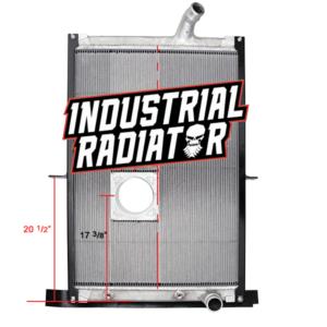 Mack Radiator - 38 7/8 x 27 1/2 x 2 With Cooler (With Crankbox)