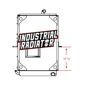 Mack Radiator - 39 x 26 13/16 x 2 1/4 (With Crankbox)