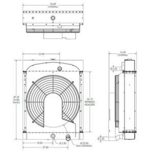 Waukesha 145 & 817 Genset Radiator