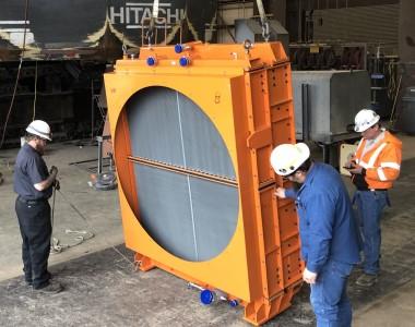 Heavy equipment radiator repair service