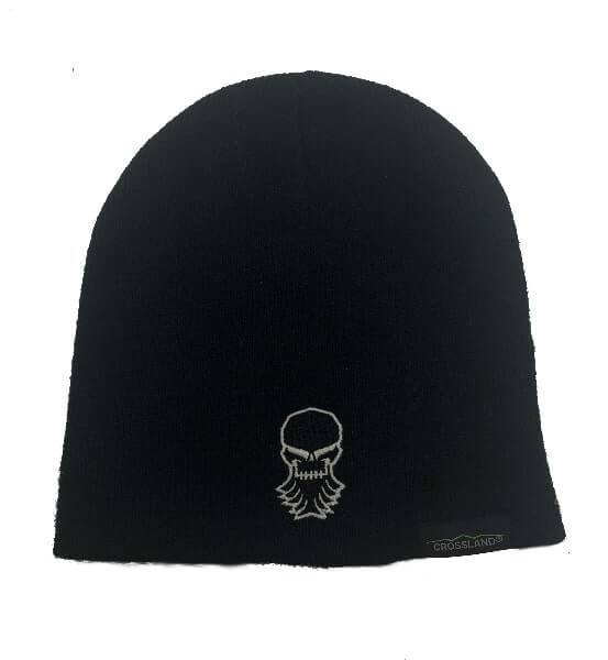Black beanie with embroidered Industrial Radiator logo