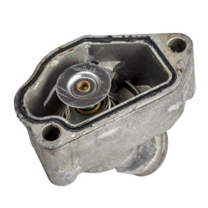 diesel engine cooling system thermostat in housing