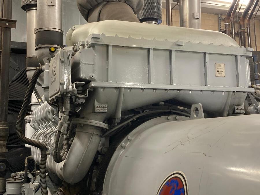 Diesel engine oil aftercooler