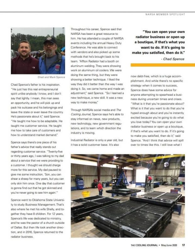 Industrial Radiator Cooling Journal feature